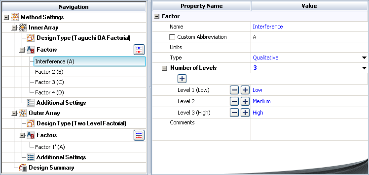 Robust Parameter Designs: Example